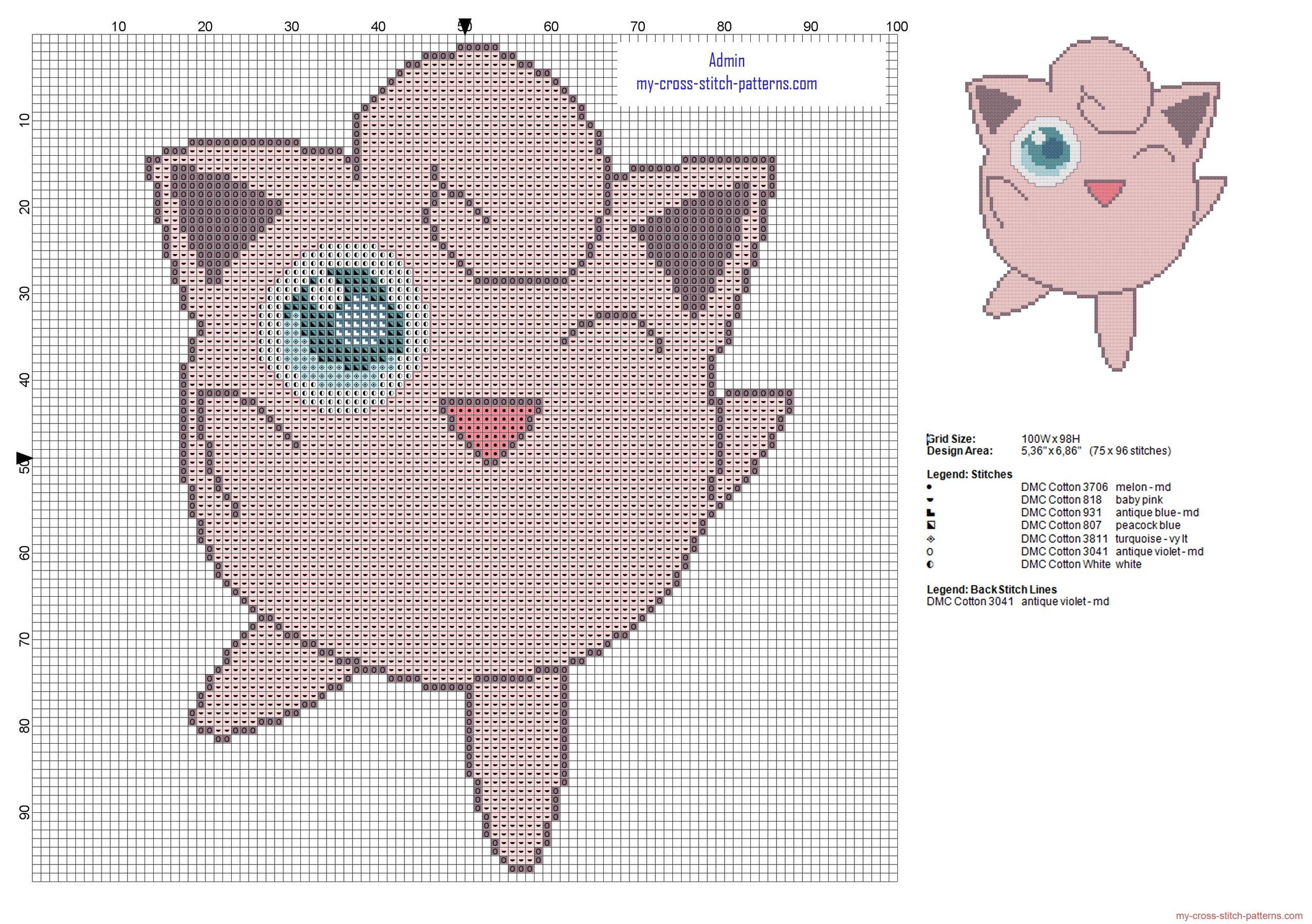 jigglypuff_pokemon_first_generation_number_039_cross_stitch_pattern