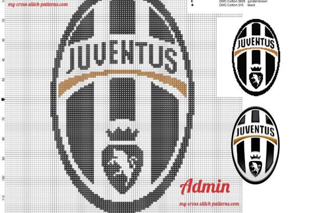 juventus_logo_cross_stitch_pattern_free