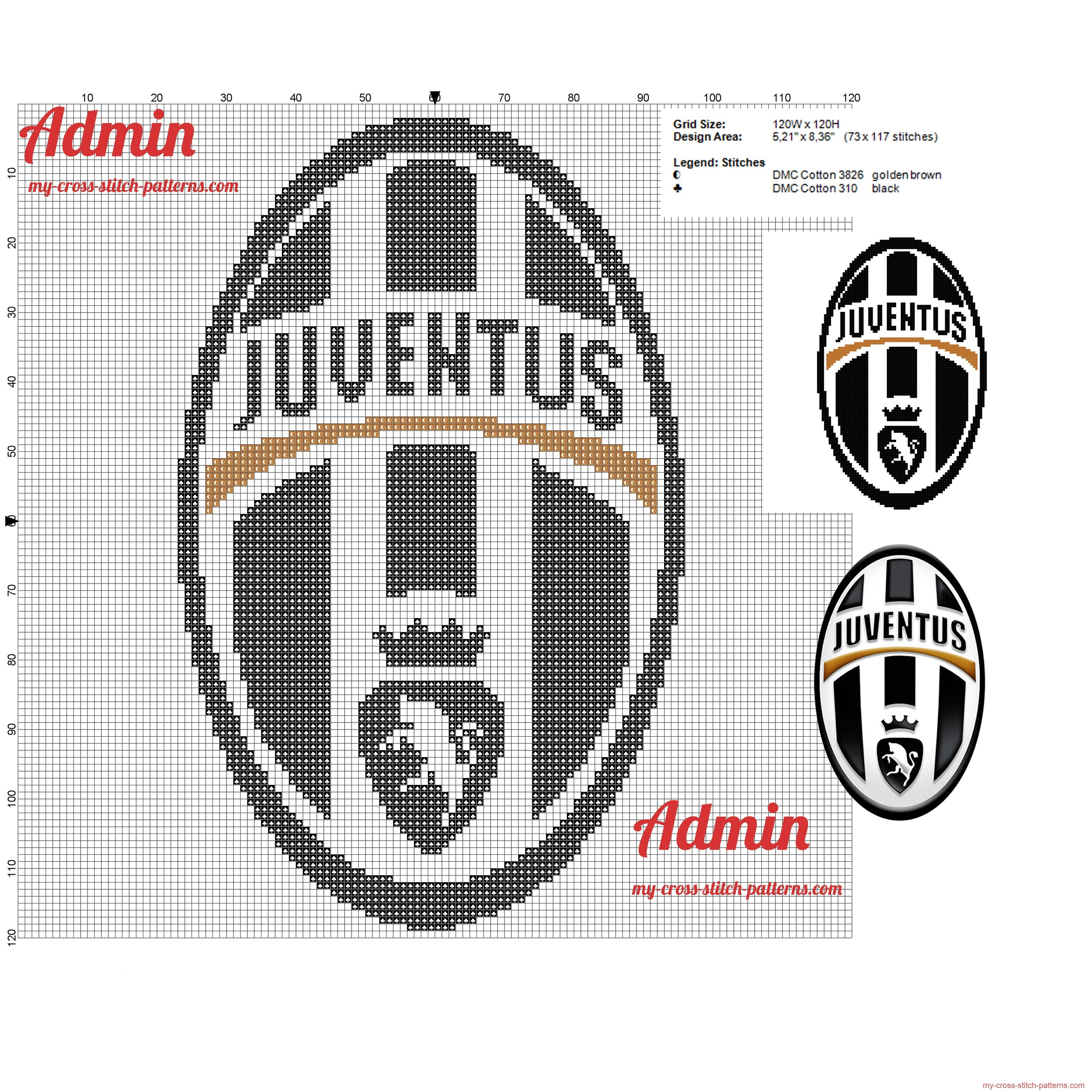 juventus_logo_cross_stitch_pattern_free