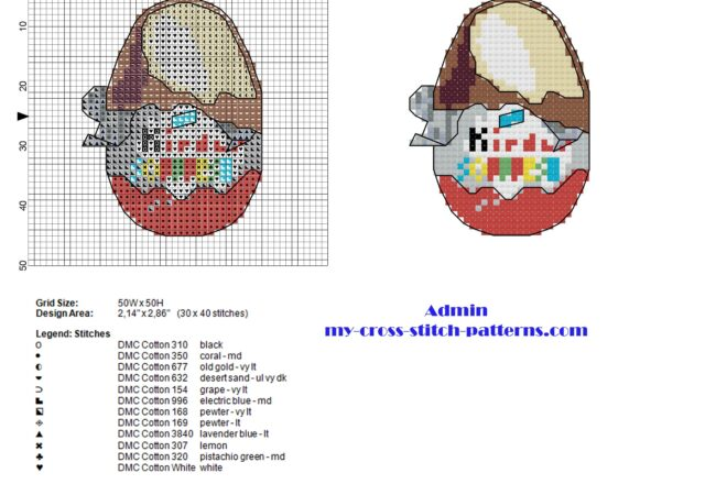 kinder_surprise_kinder_egg_small_cross_stitch_pattern_with_back_stitch