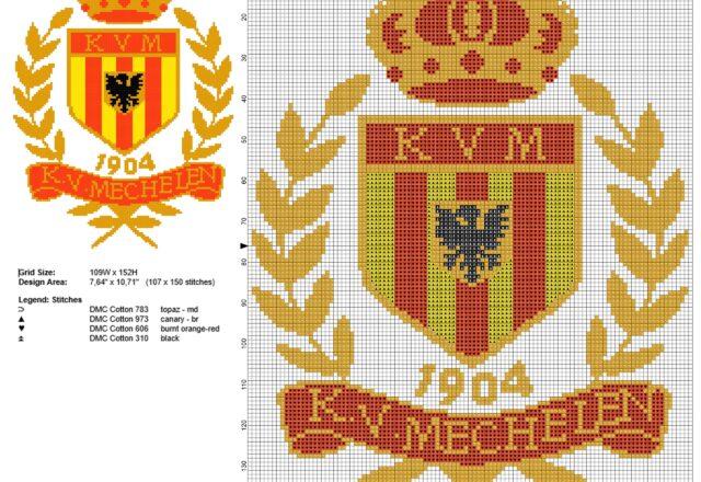 kv_mechelen_football_team_logo_free_cross_stitch_pattern