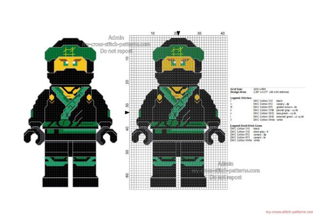lego_ninjago_lloyd_free_cross_stitch_pattern_40x64