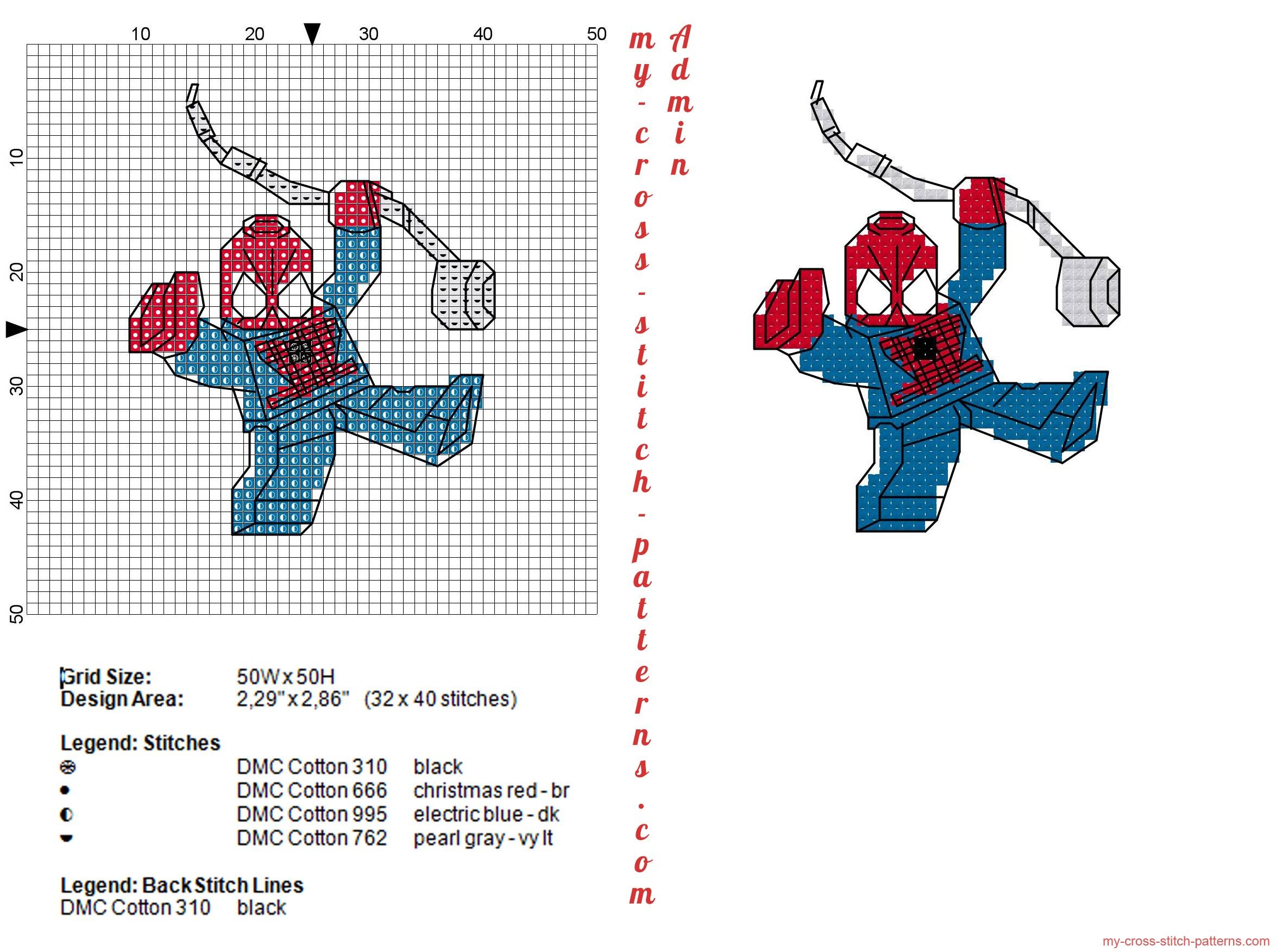 lego_spiderman_cross_stitch_pattern_32x40_4_dmc_threads