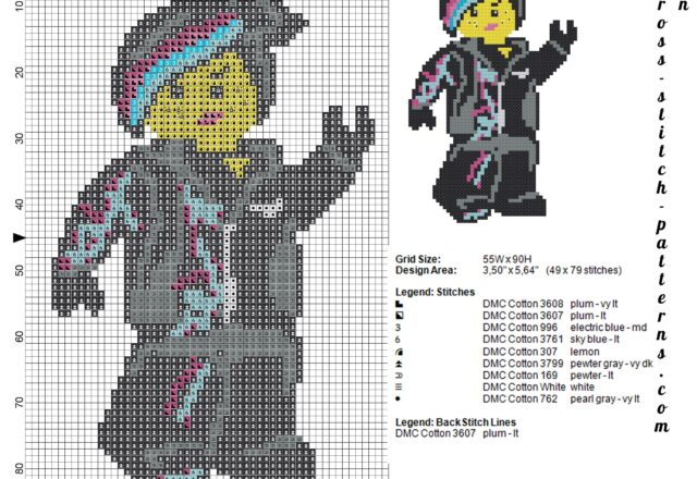 lego_wildstyle_lucy_the_lego_movie_cross_stitch_pattern