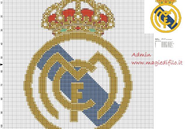 logo_real_madrid_cross_stitch_pattern