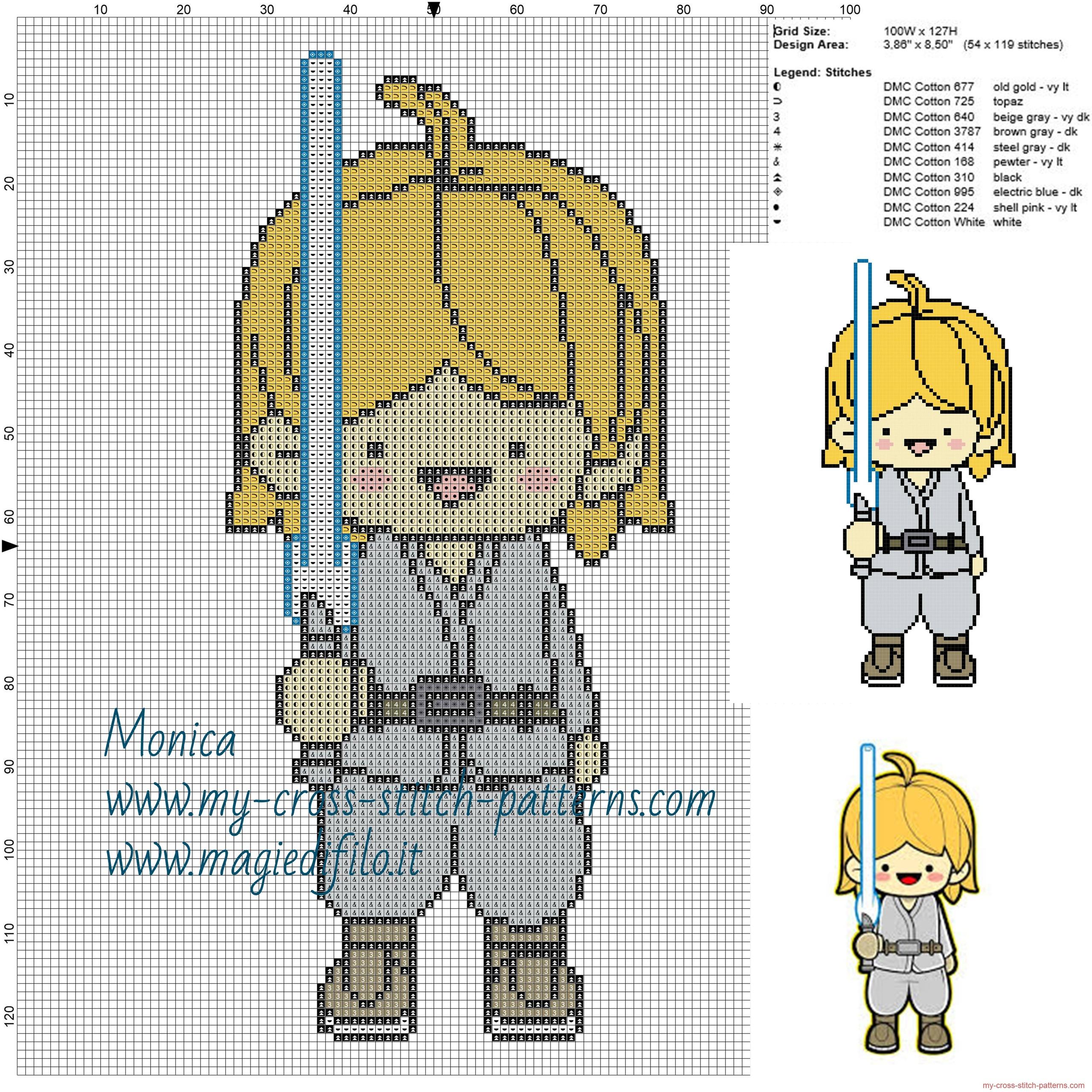 luke_skywalker_star_wars_cross_stitch_pattern_
