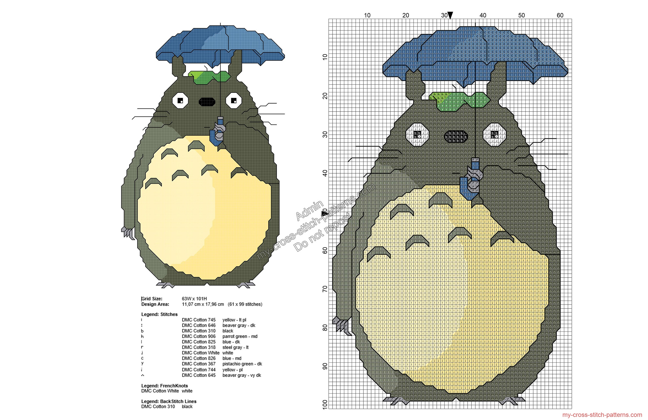 my_neighbor_totoro_free_cross_stitch_pattern_61x99
