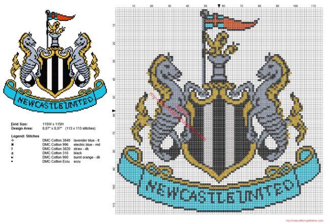 newcastle_united_football_club_logo_badge_cross_stitch_pattern