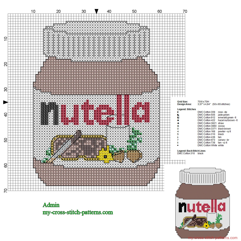 nutella_jar_cross_stitch_pattern_50_x_65_stitches_13_dmc_threads