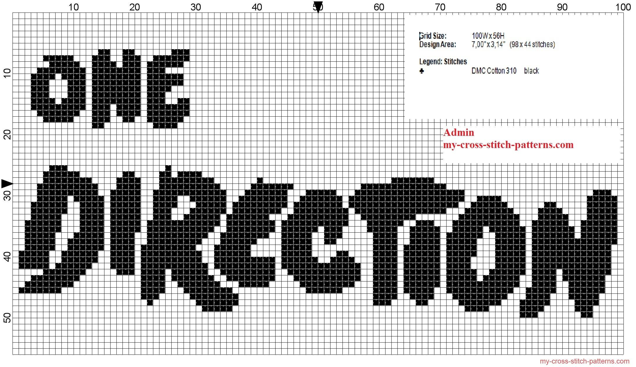 one_direction_band_logo_monochrome_black_cross_stitch_pattern