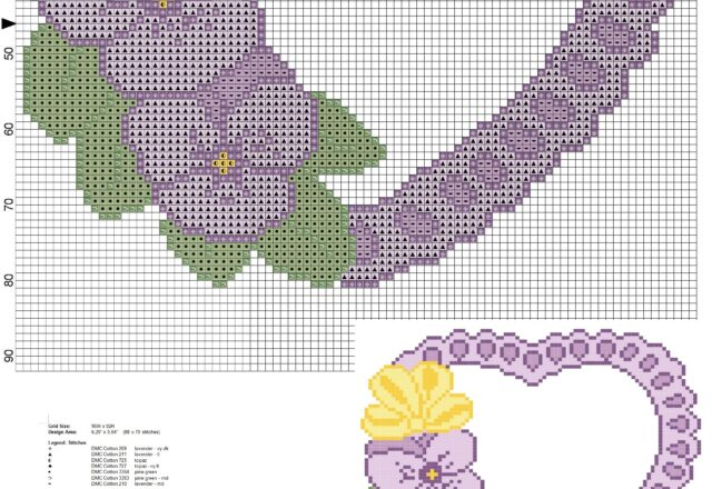 pillow_rings_heart_with_pansies_and_leaves