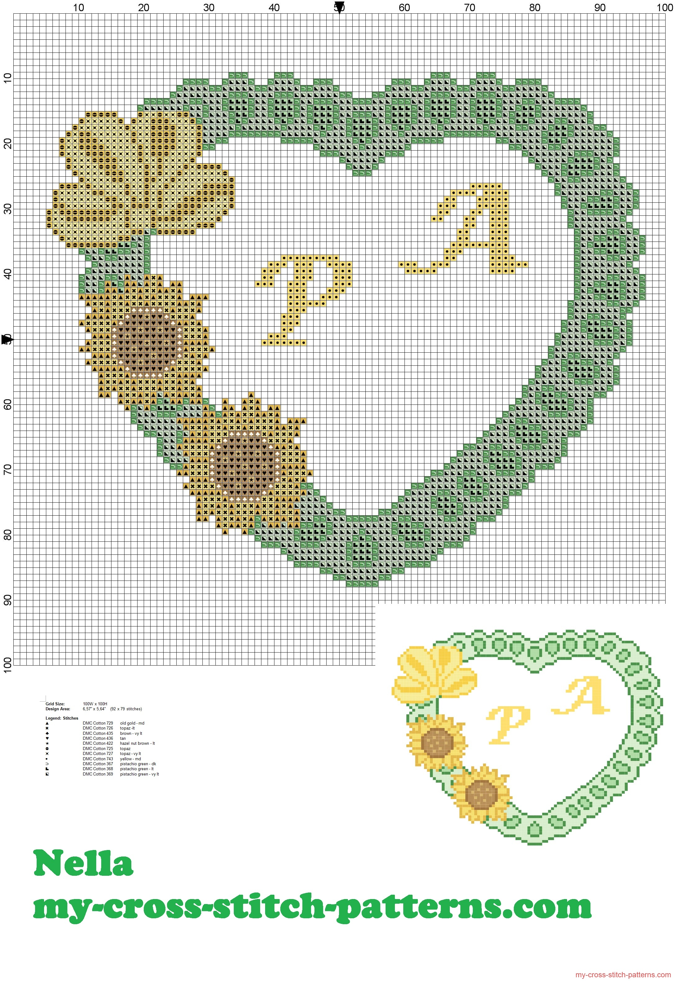 pillow_rings_heart_with_sunflowers