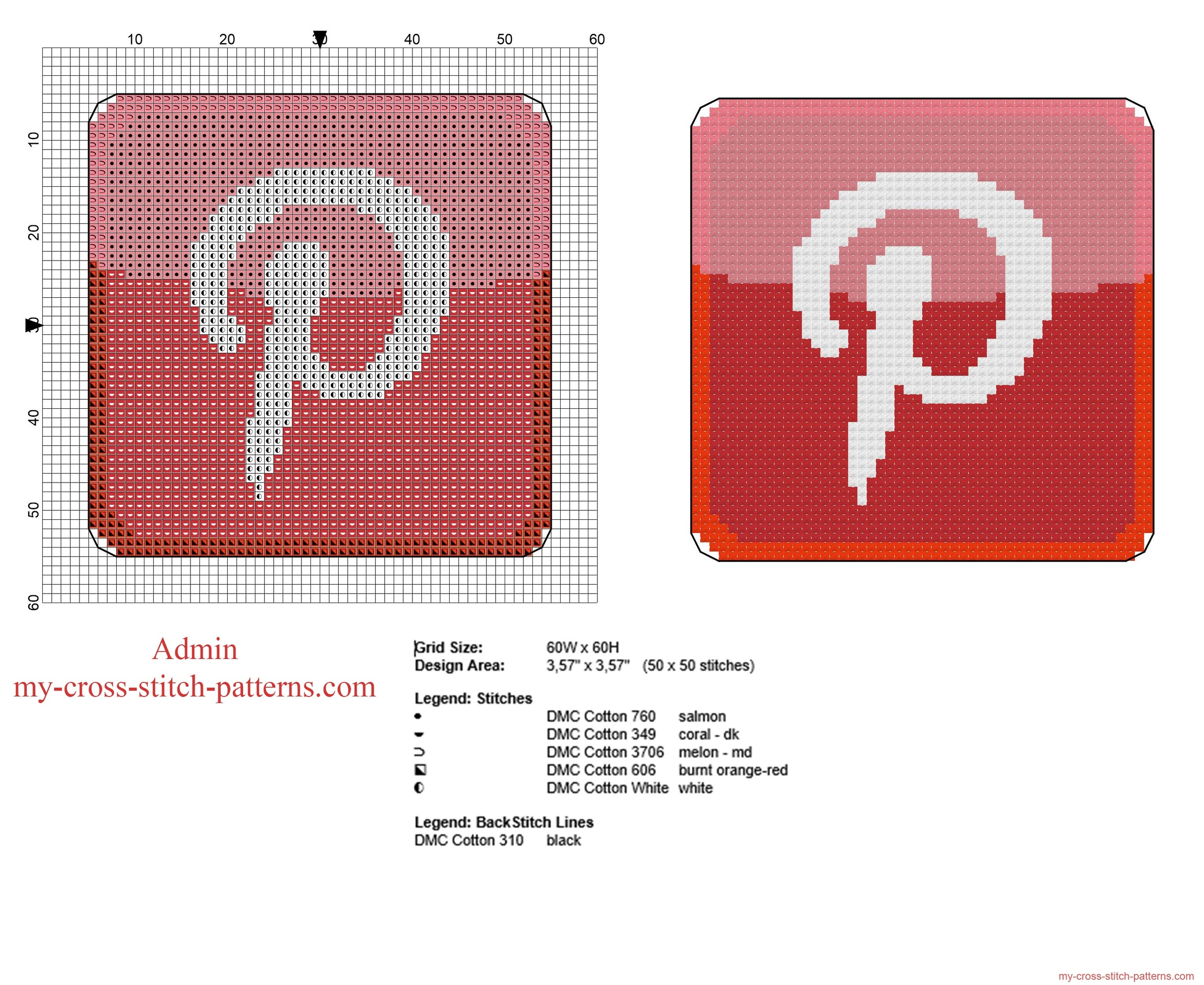 pinterest_logo_free_cross_stitch_pattern_in_fifty_stitches