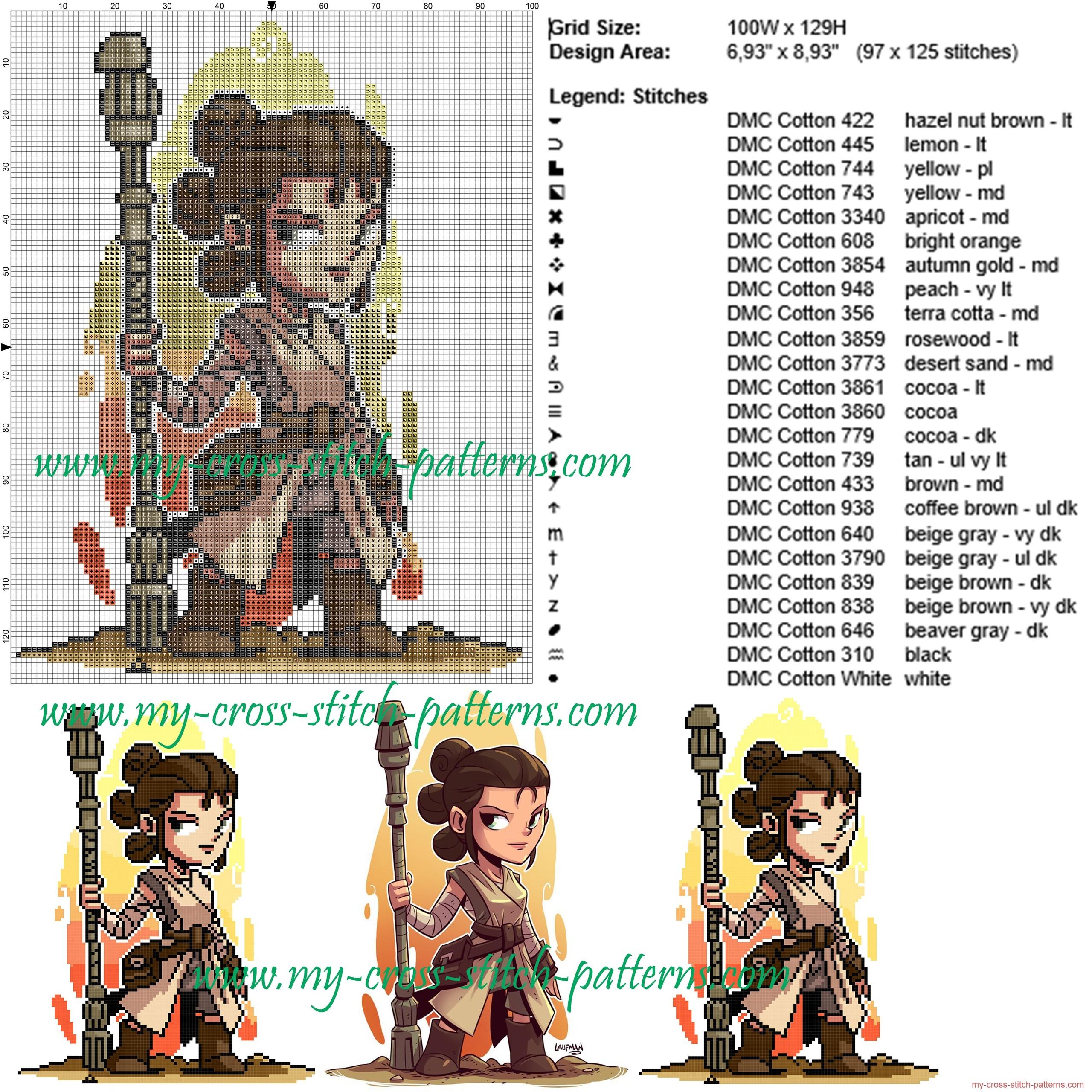 rey_star_wars_cross_stitch_pattern_