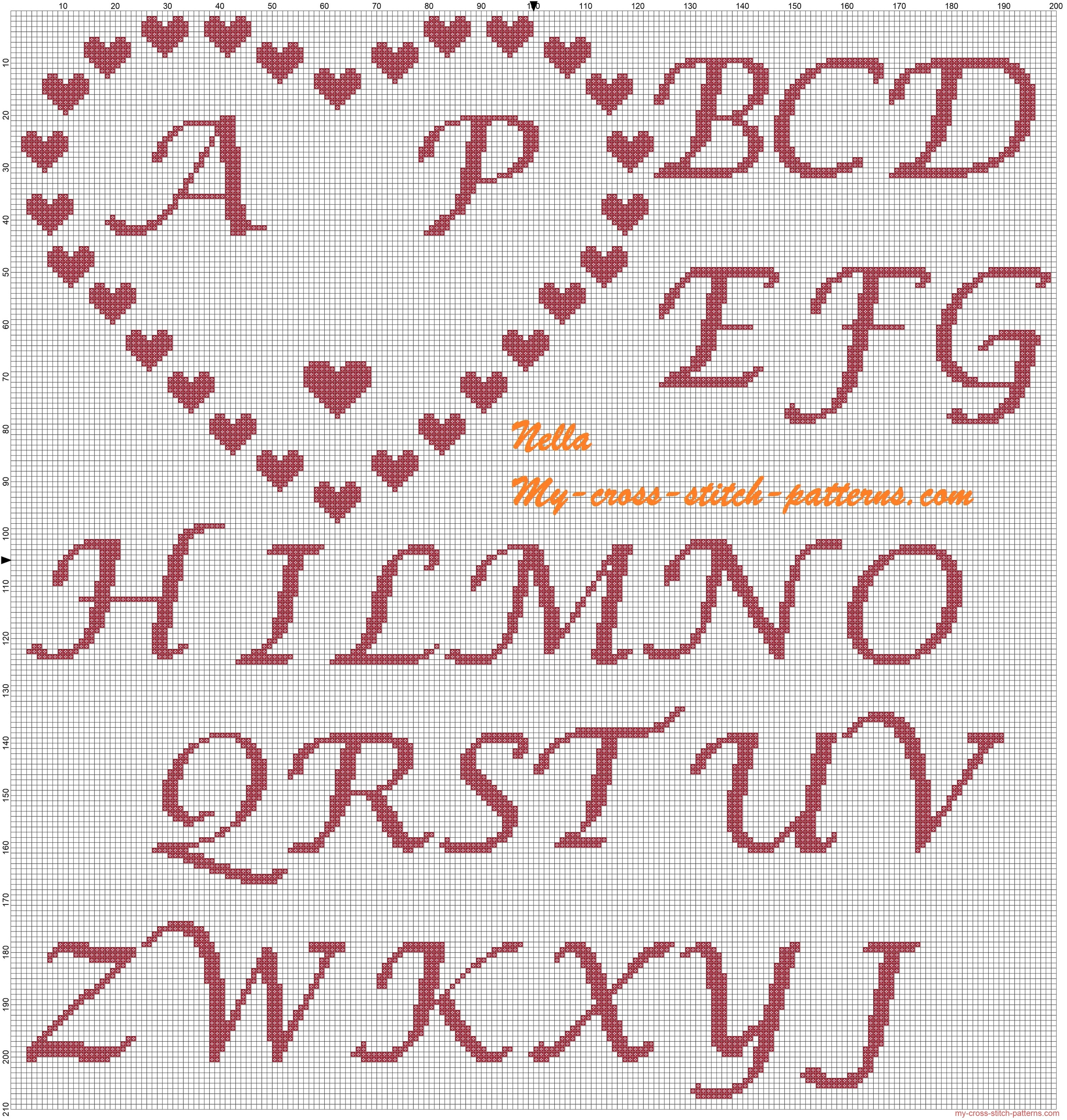 ring_pillows_hearts_and_initials_cross_stitch_pattern
