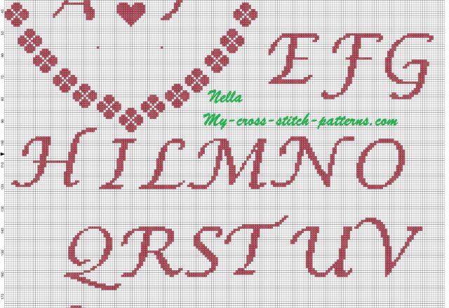 ring_pillows_shamrocks_and_initial_cross_stitch_pattern