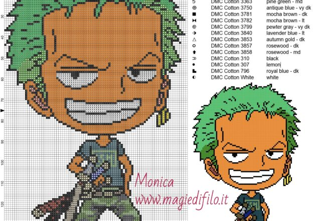 roronoa_zoro_2_cross_stitch_pattern_