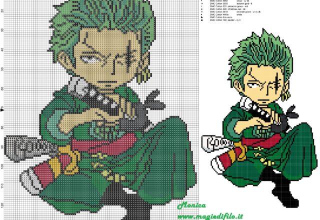 roronoa_zoro_cross_stitch_pattern_