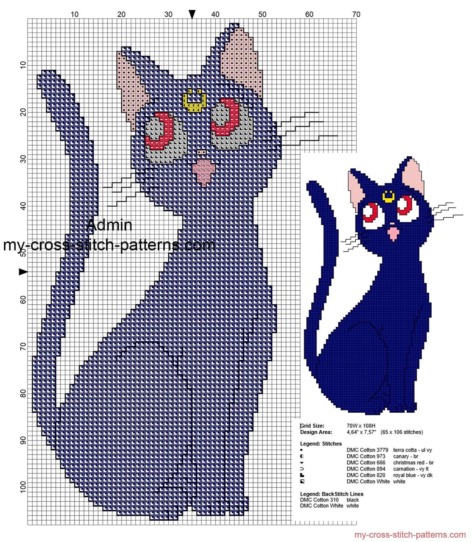 sailor_moon_luna_cat_free_cross_stitch_pattern