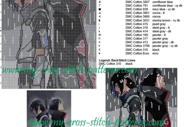 sasuke_and_itachi_cross_stitch_pattern_