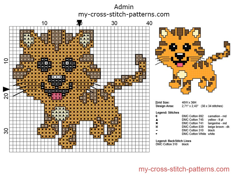 small_cross_stitch_pattern_ideal_for_baby_bibs_baby_tiger