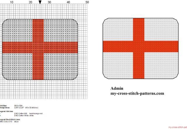small_england_flag_free_cross_stitch_pattern