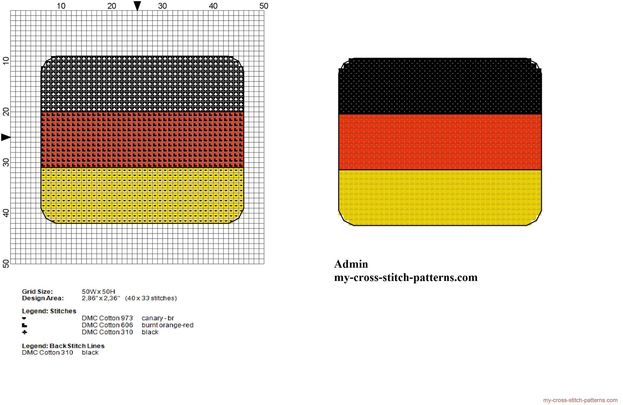 small_germany_flag_free_cross_stitch_pattern
