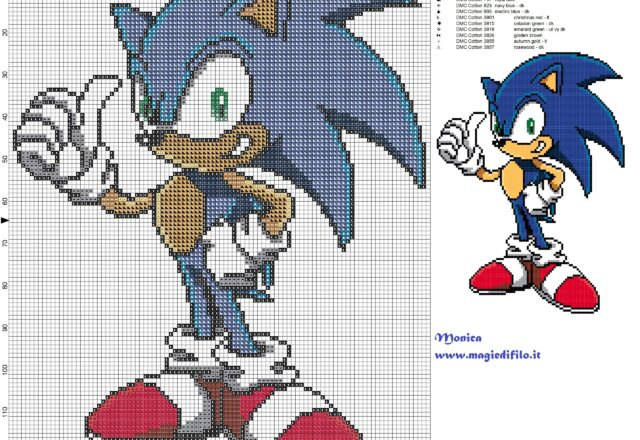 sonic_cross_stitch_pattern