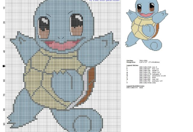 squirtle_pokemon_first_generation_007_cross_stitch_pattern