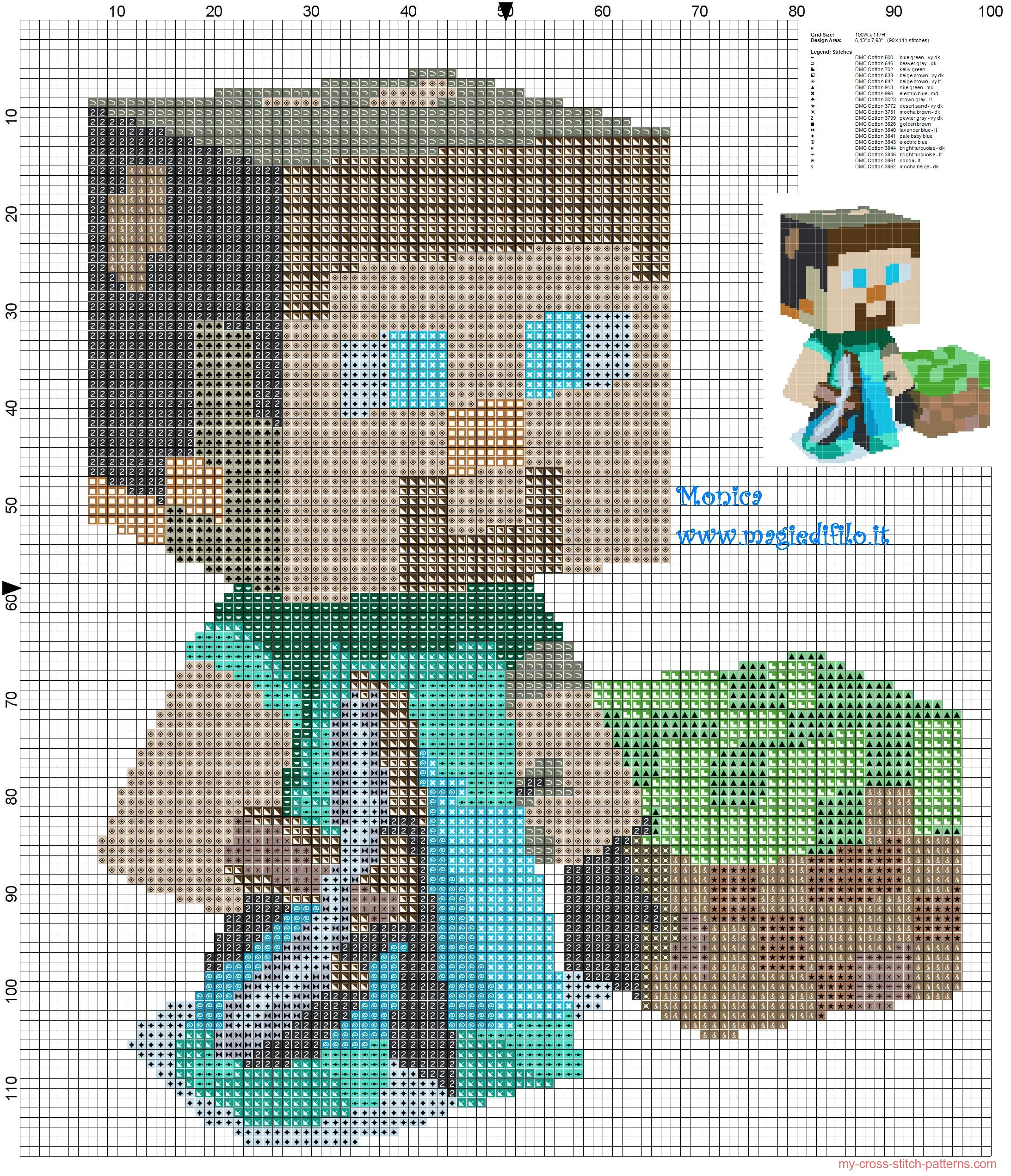 steve_minecraft_cross_stitch_pattern