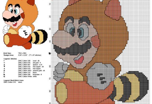 super_mario_bros_tanooki_suite_free_cross_stitch_pattern_77_x_97_stitches_8_dmc_threads