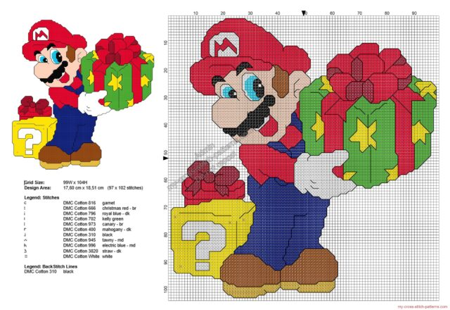 super_mario_bros_with_christmas_presents_free_cross_stitch_pattern_97x102