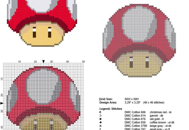 super_mario_super_mushroom_red_mushroom_character_free_cross_stitch_pattern