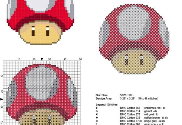 super_mario_super_mushroom_red_mushroom_character_free_cross_stitch_pattern