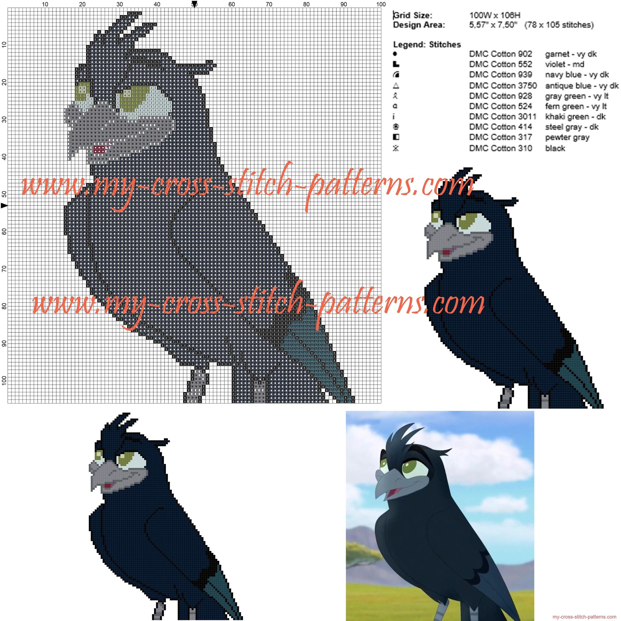 tamaa_the_lion_king_cross_stitch_pattern_