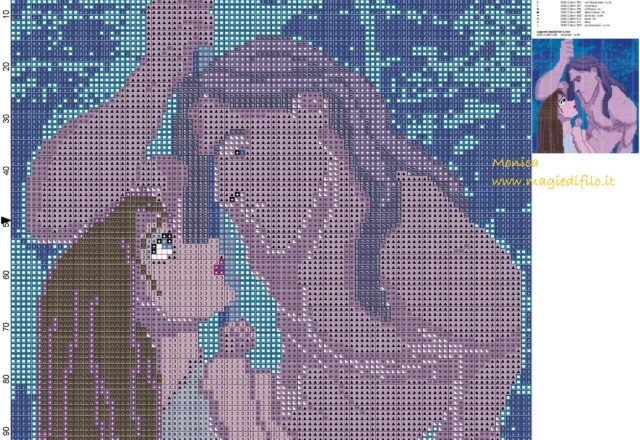 tarzan_and_jane_cross_stitch_pattern