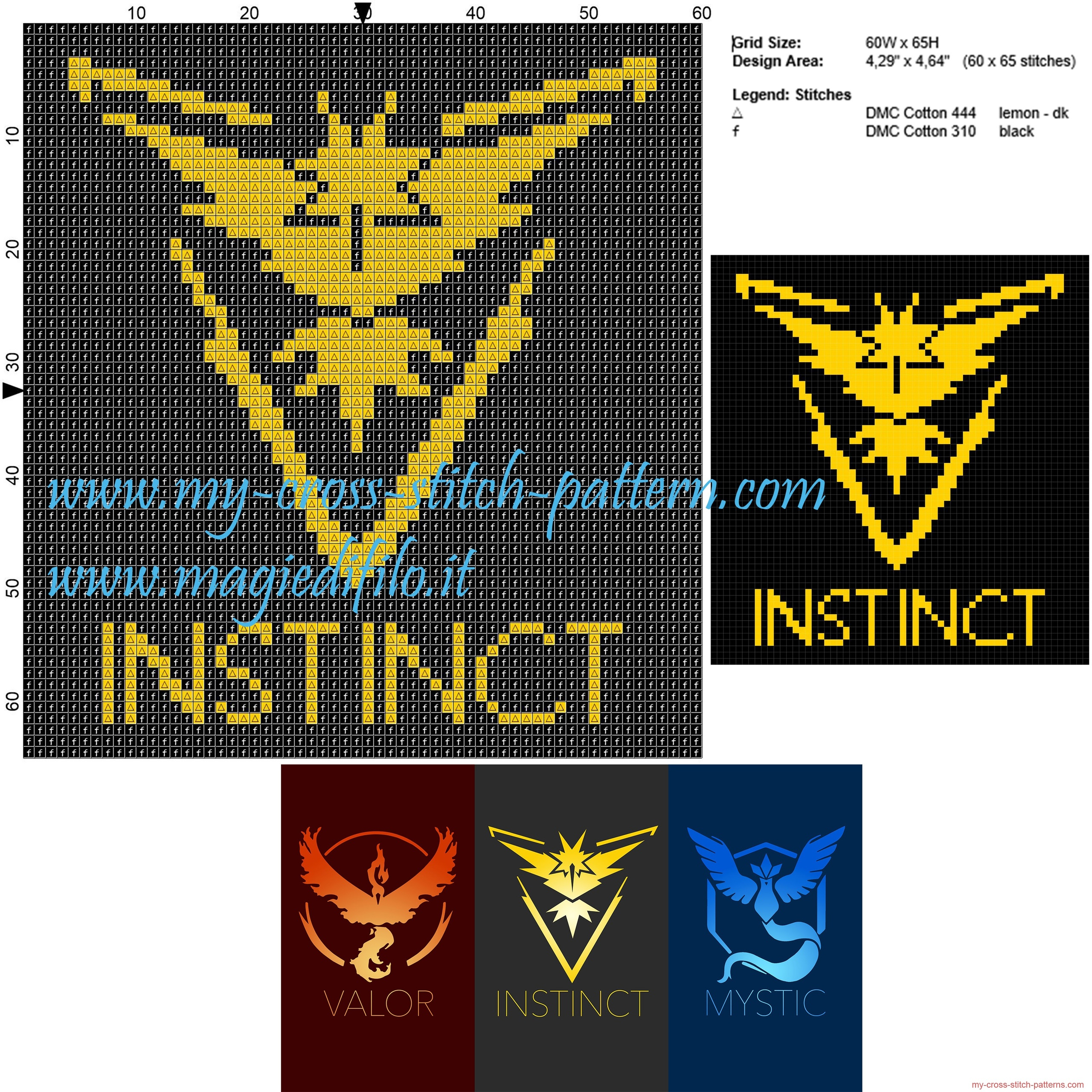 team_instinct_pokemon_go_cross_stitch_pattern_