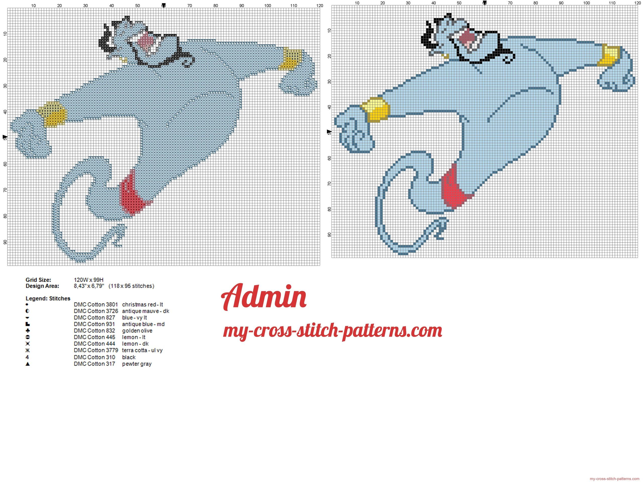 the_genie_of_aladdin_cross_stitch_pattern