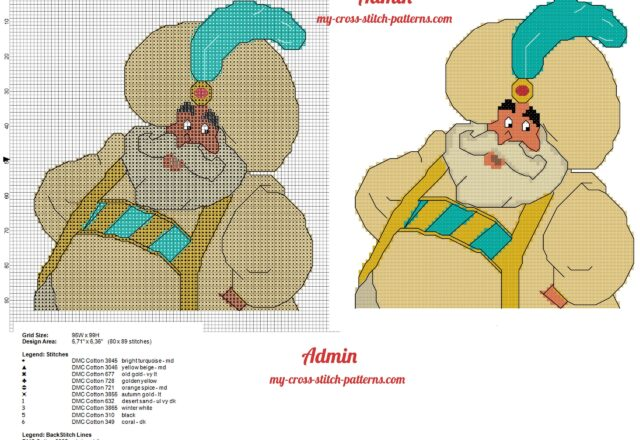 the_sultan_disney_aladdin_cross_stitch_pattern