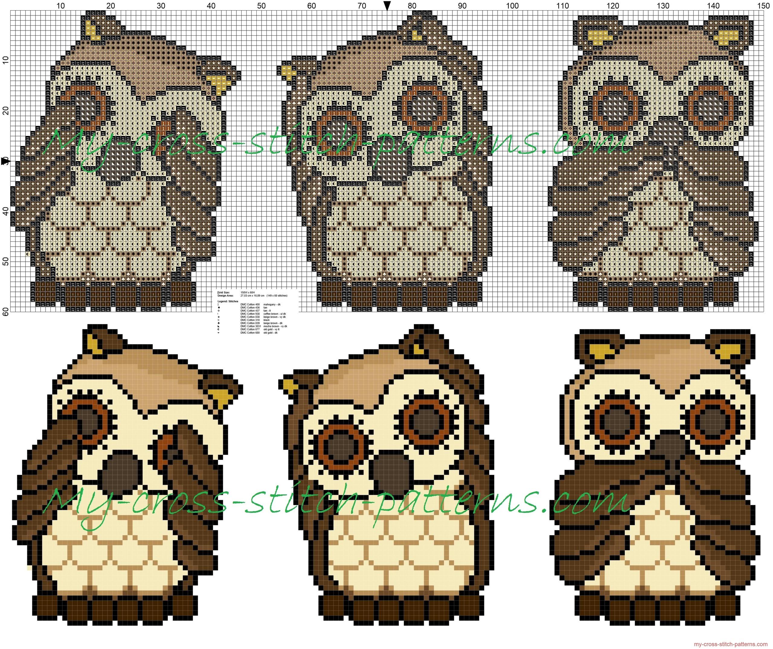 thun_owls_i_do_not_see_i_can_not_hear_i_do_not_talk_free_cross_stitch_pattern_149x60
