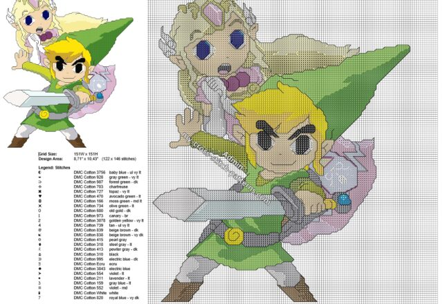 toon_link_and_princess_zelda_cross_stitch_pattern_the_legend_of_zelda