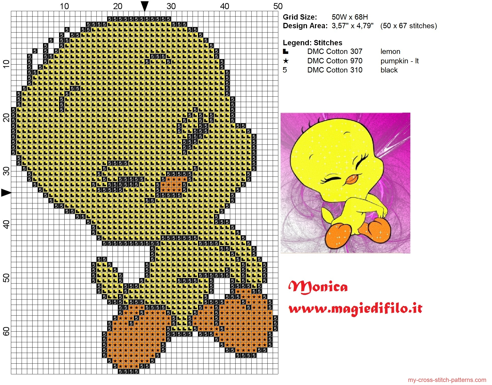 tweety_cross_stitch_pattern