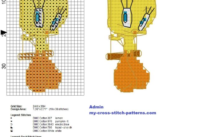 tweety_on_the_swing_looney_tunes_cross_stitch_pattern_height_40