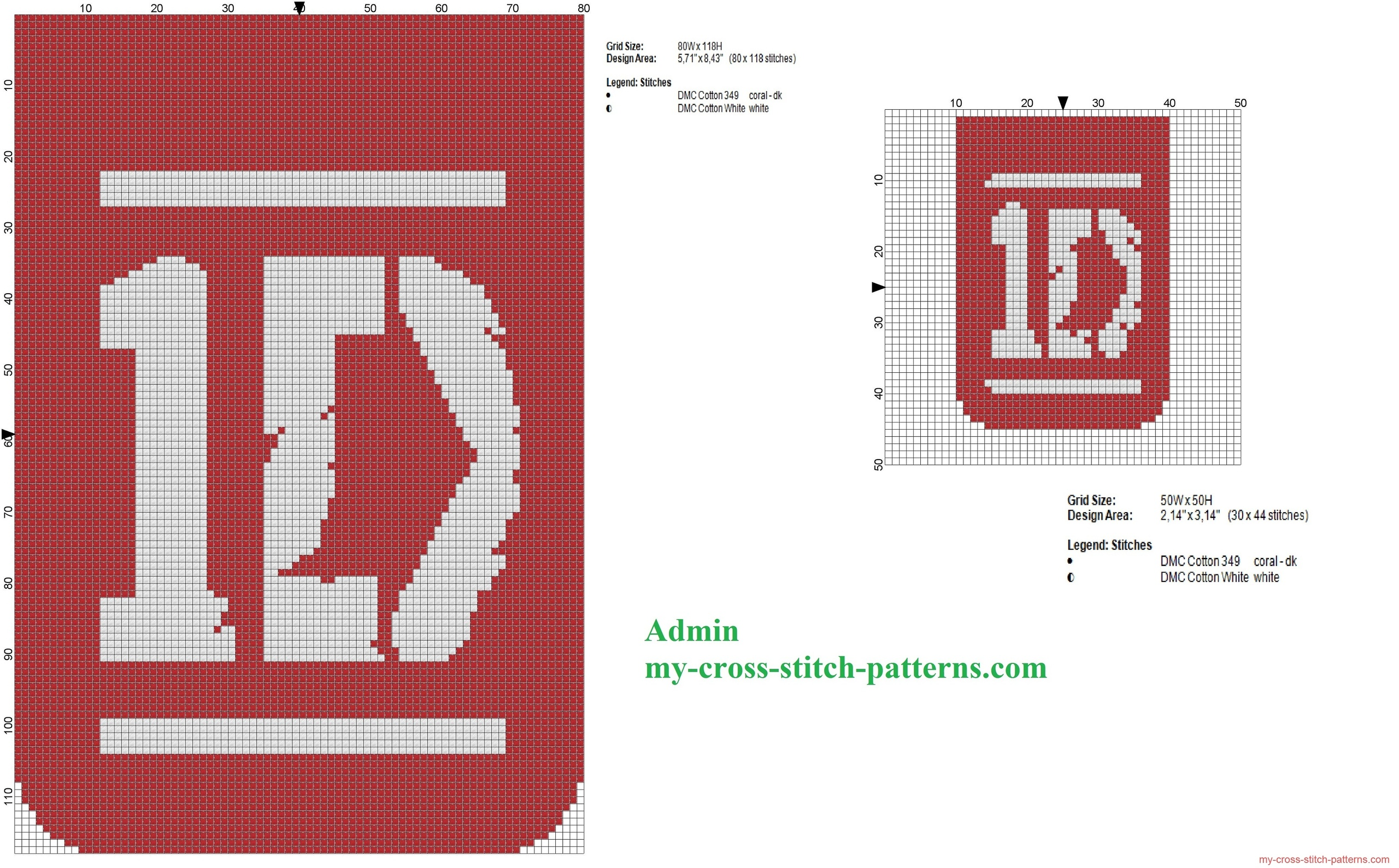 two_cross_stitch_patterns_of_band_one_direction_logos