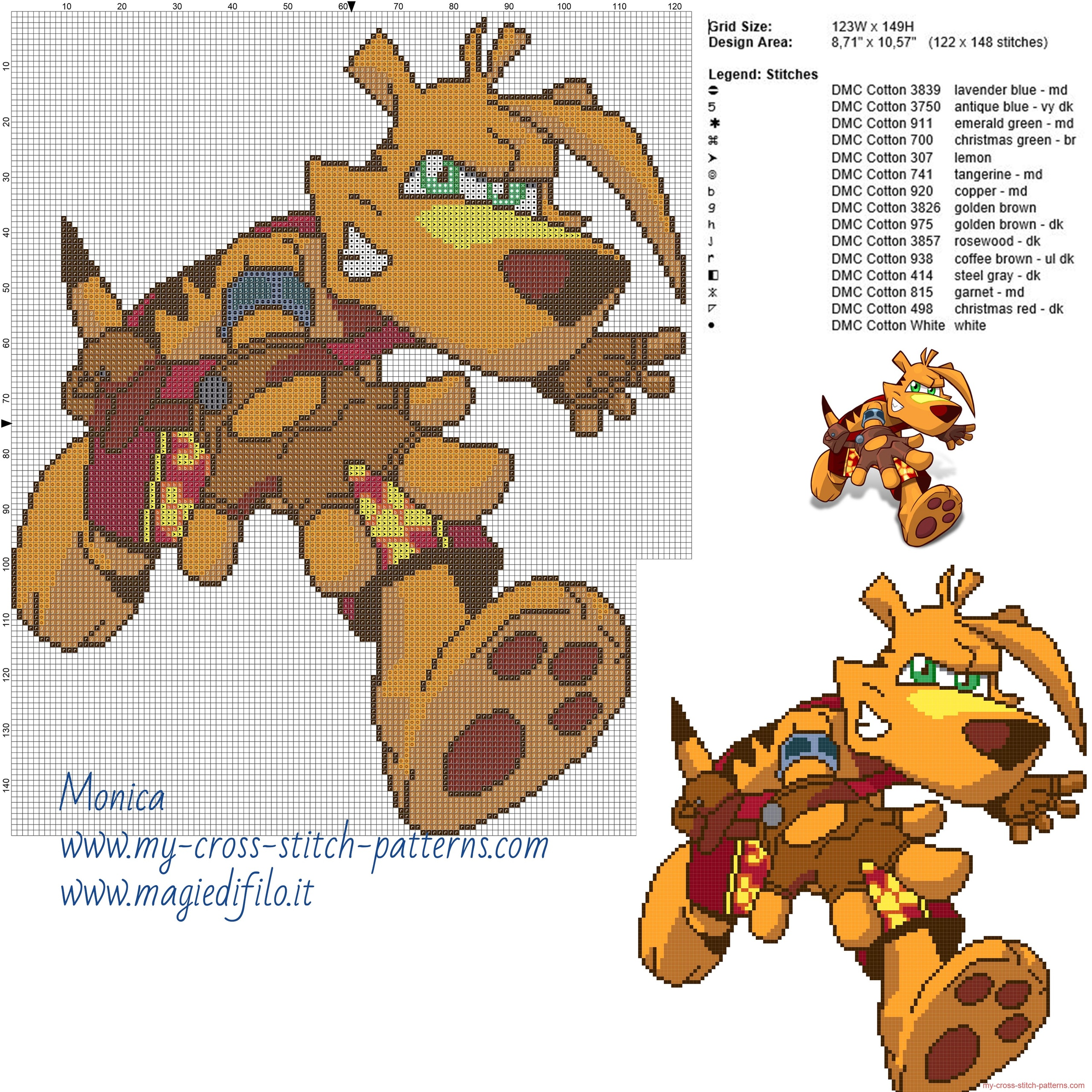 ty_ty_the_tasmanian_tiger_cross_stitch_pattern_