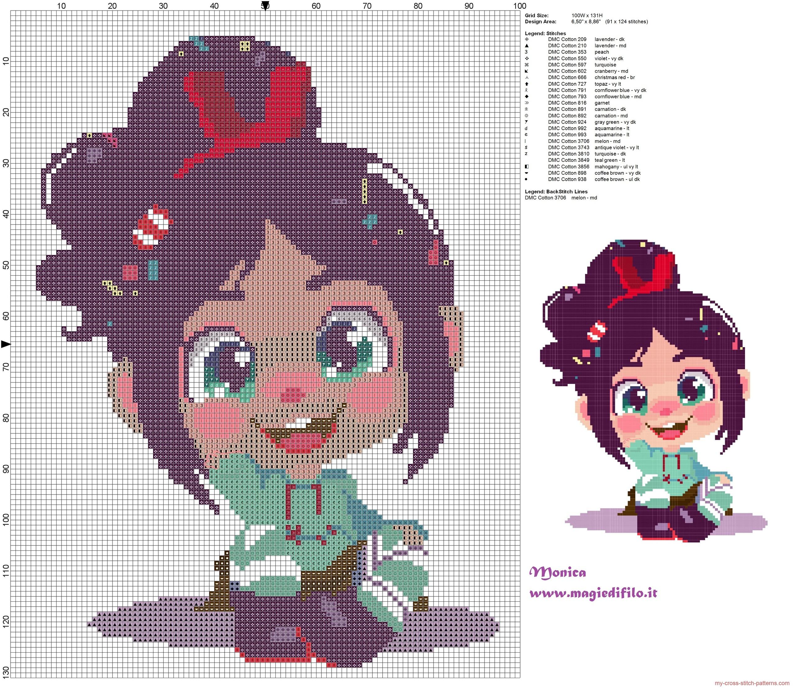 vanellope_wreck_it_ralph_cross_stitch_pattern