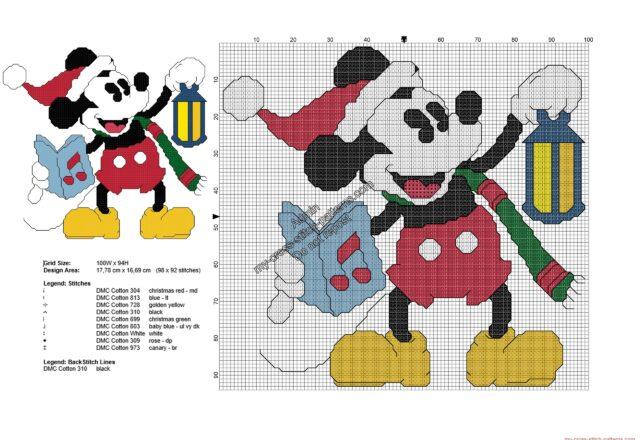 vintage_christmas_disney_mickey_mouse_free_cross_stitch_pattern_98x92