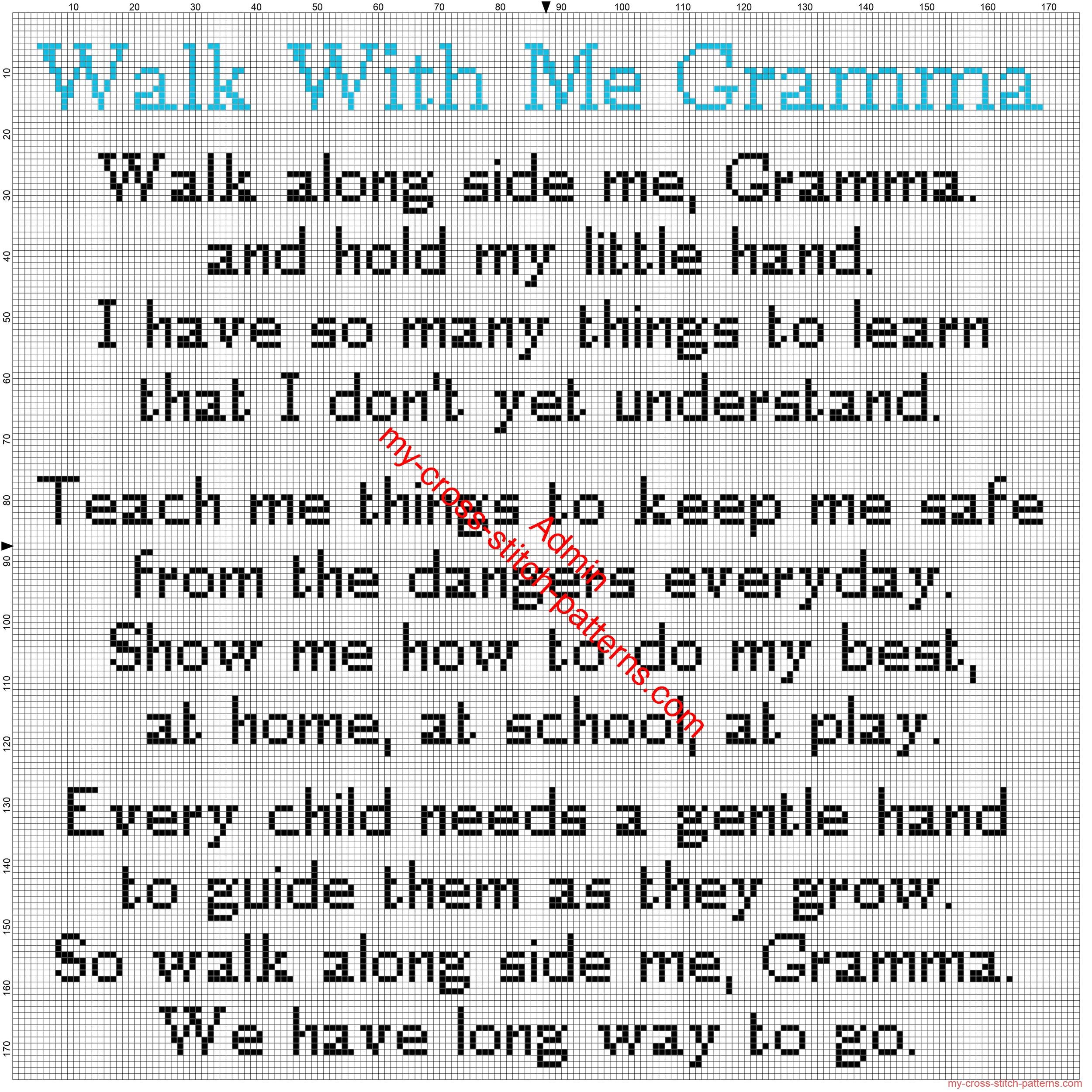 walk_with_me_gramma_poetry_sentence_free_cross_stitch_pattern