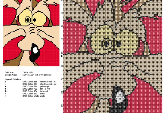 wile_e_coyote_road_runner_looney_tunes_enemy_free_cross_stitch_pattern_red_tile