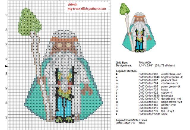 wizard_vitruvius_character_the_lego_movie_cross_stitch_pattern